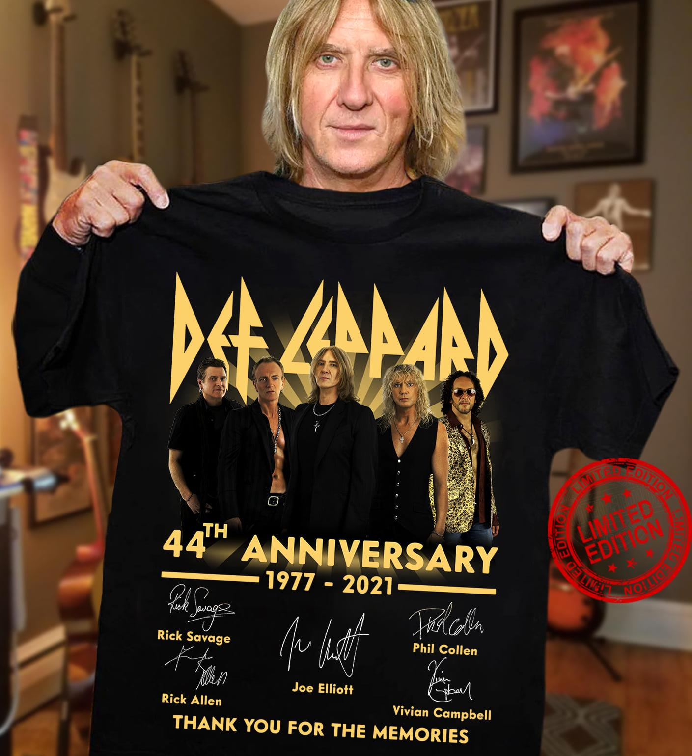 Def Leppard 44th Anniversary 1977 2021 Thank You For The Memories ...