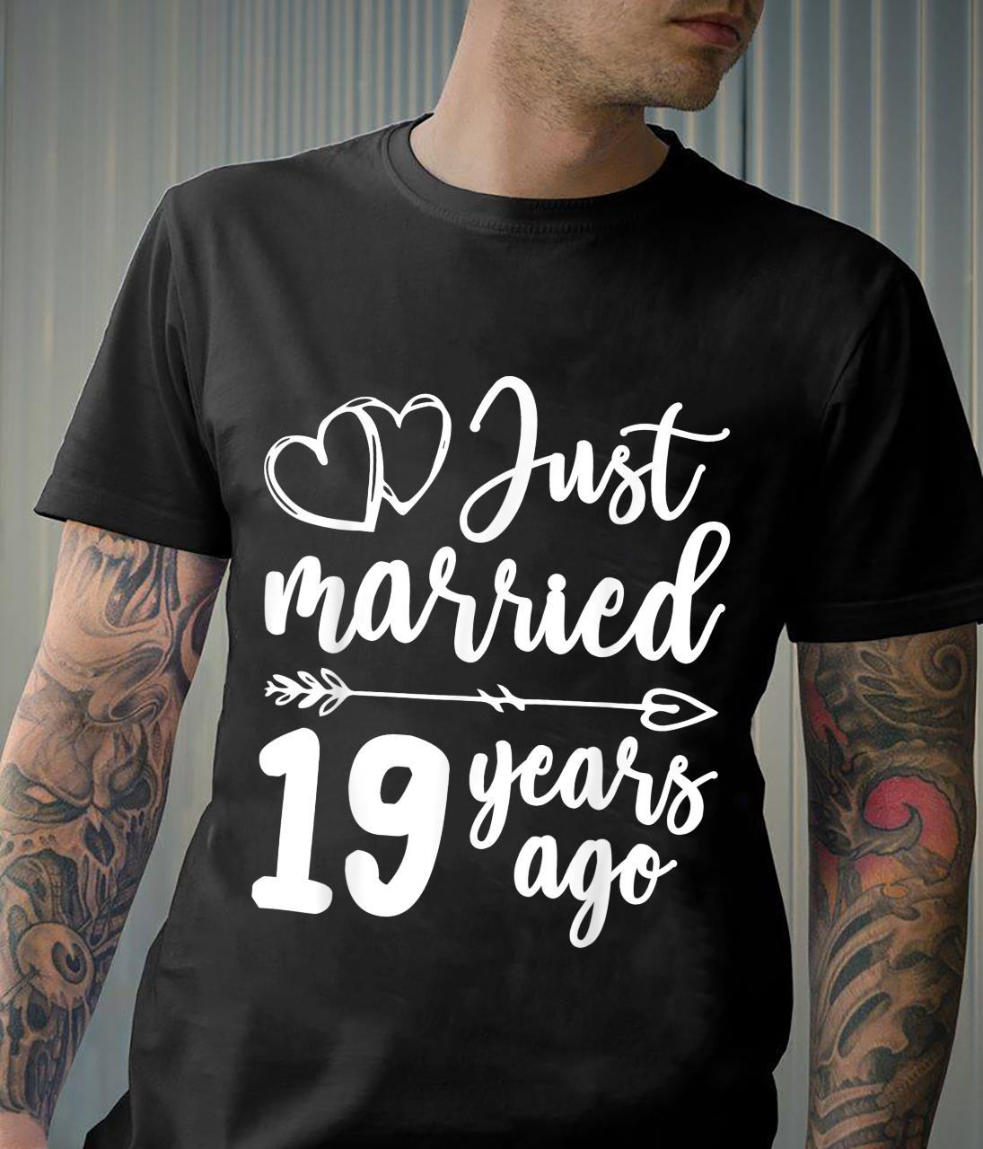 Just married for couples married 19 years shirt Shirt