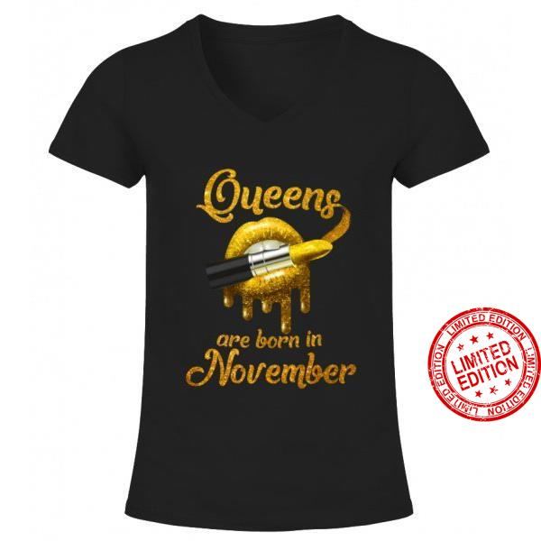 Queen Are Born In November Shirt