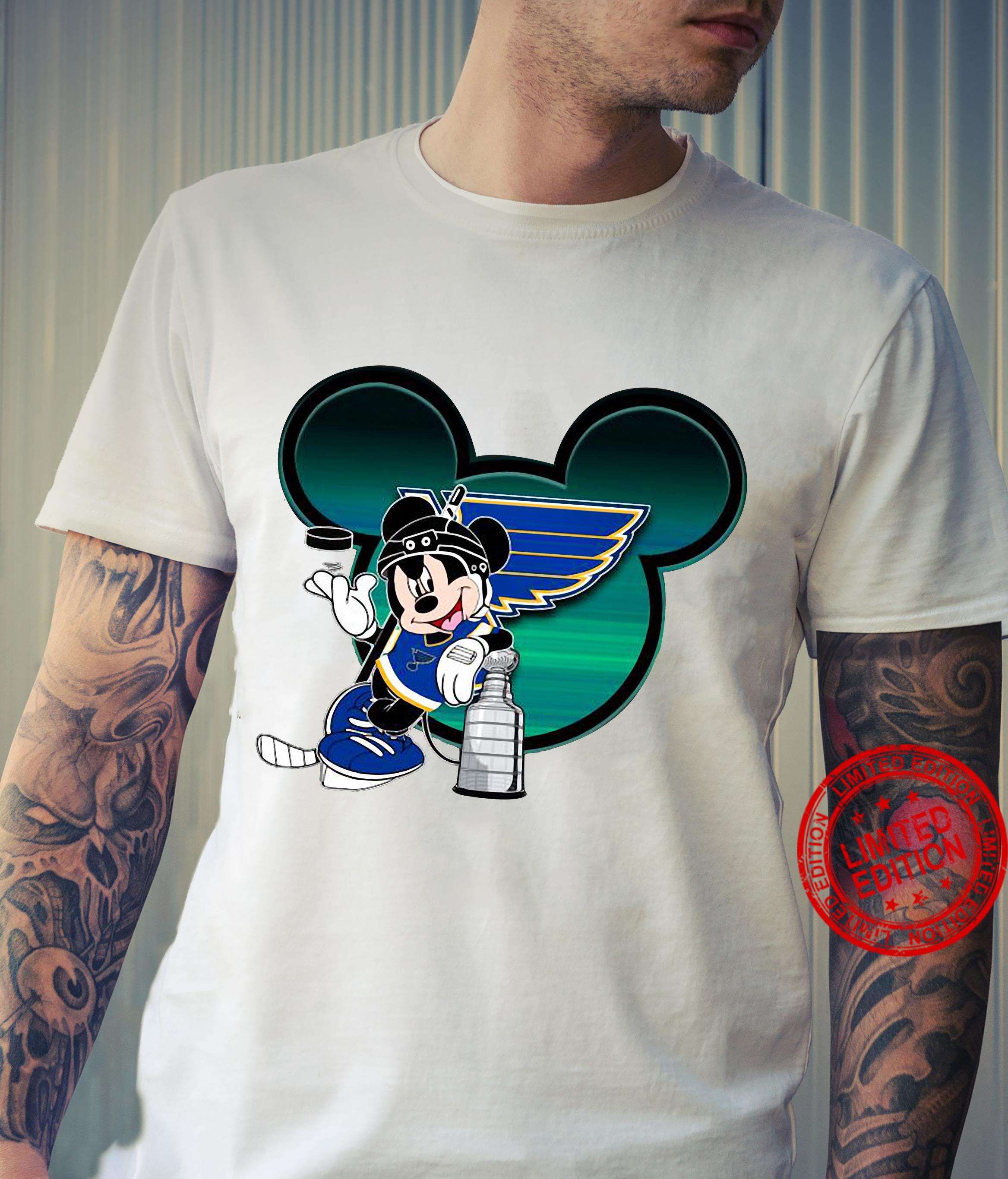 St.Louis Blues Stanley Cup Mickey Mouse Disney Hockey Shirt