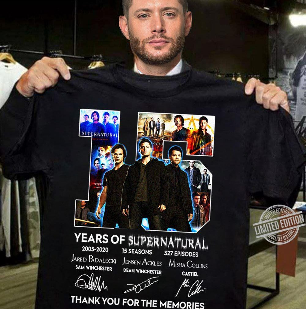 15 Years Of Supernatural 2005 - 2020 Thank You For The Memories Shirt