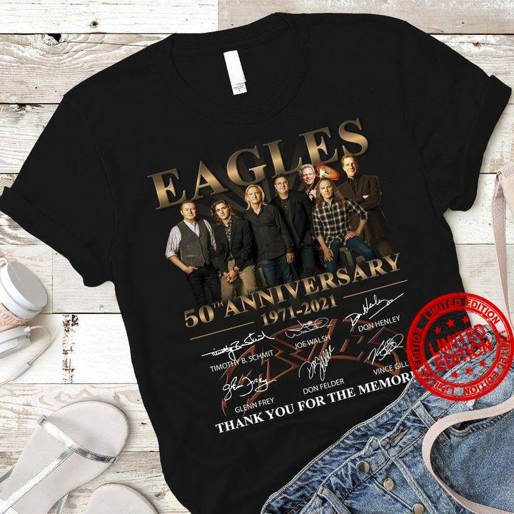 Ealges 50th Anniversary 1971-2020 Thank You For The Memories Shirt