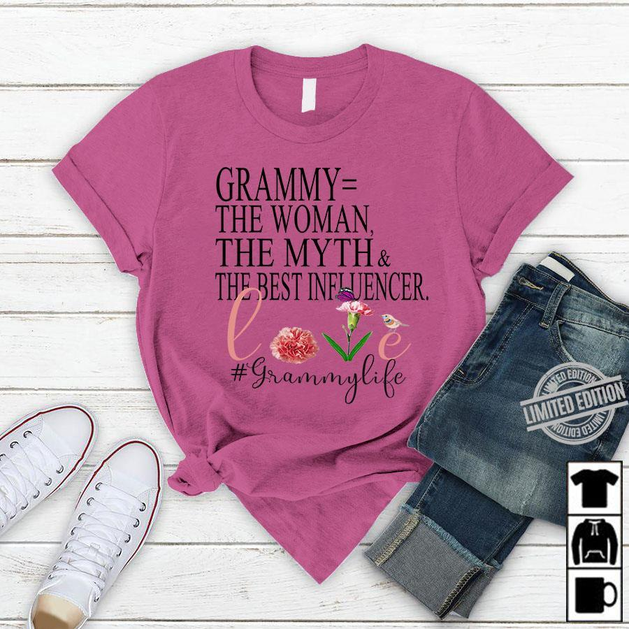 Grammy The Woman The Myth The Best Influencer Shirt