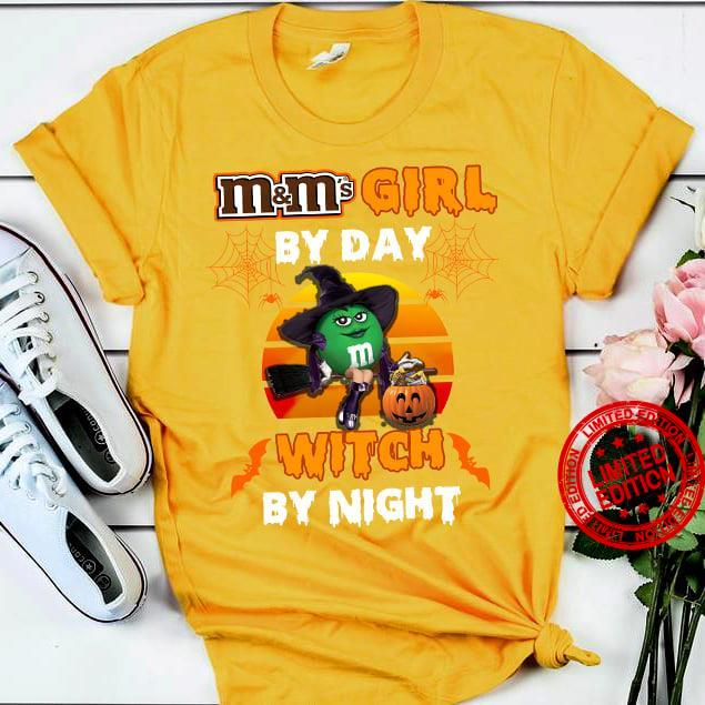 Moms Girl By Day Witch By Night Shirt