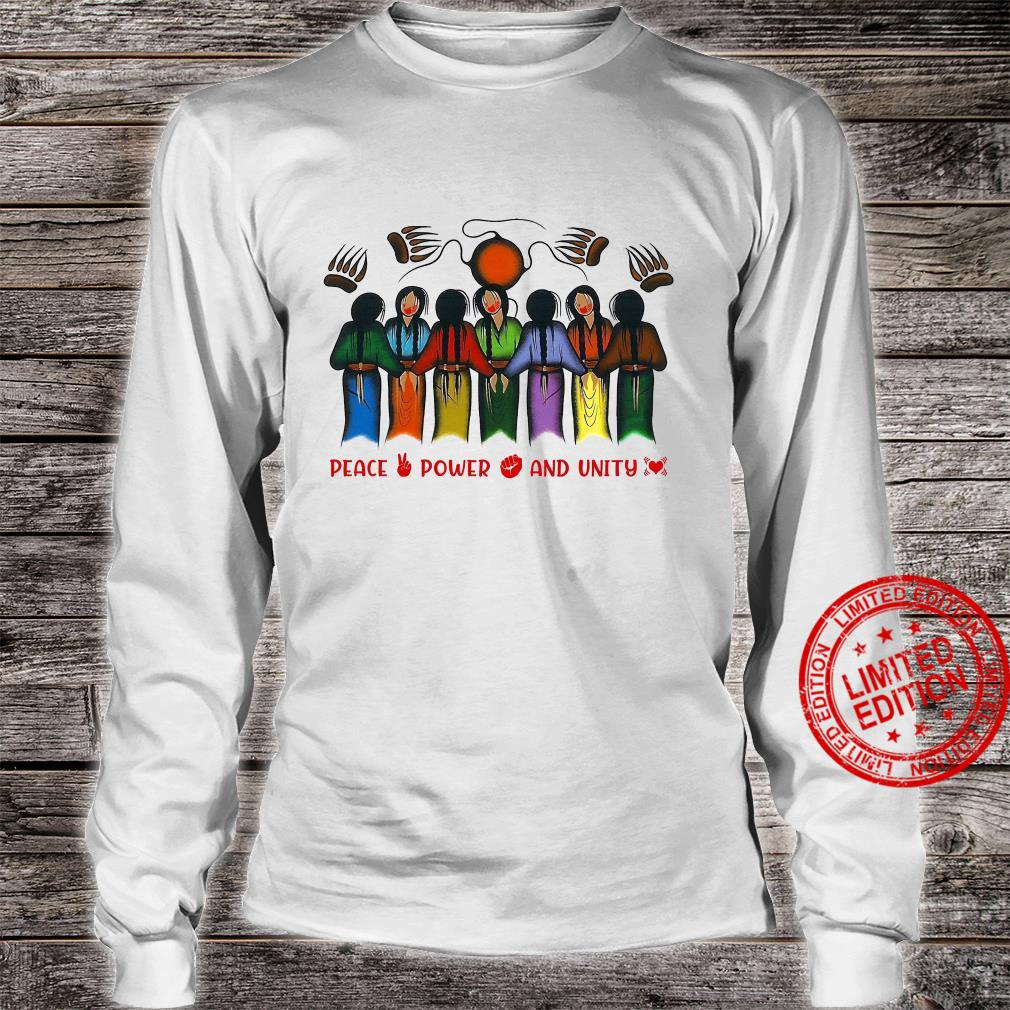Peace Power And Unity Shirt long sleeved