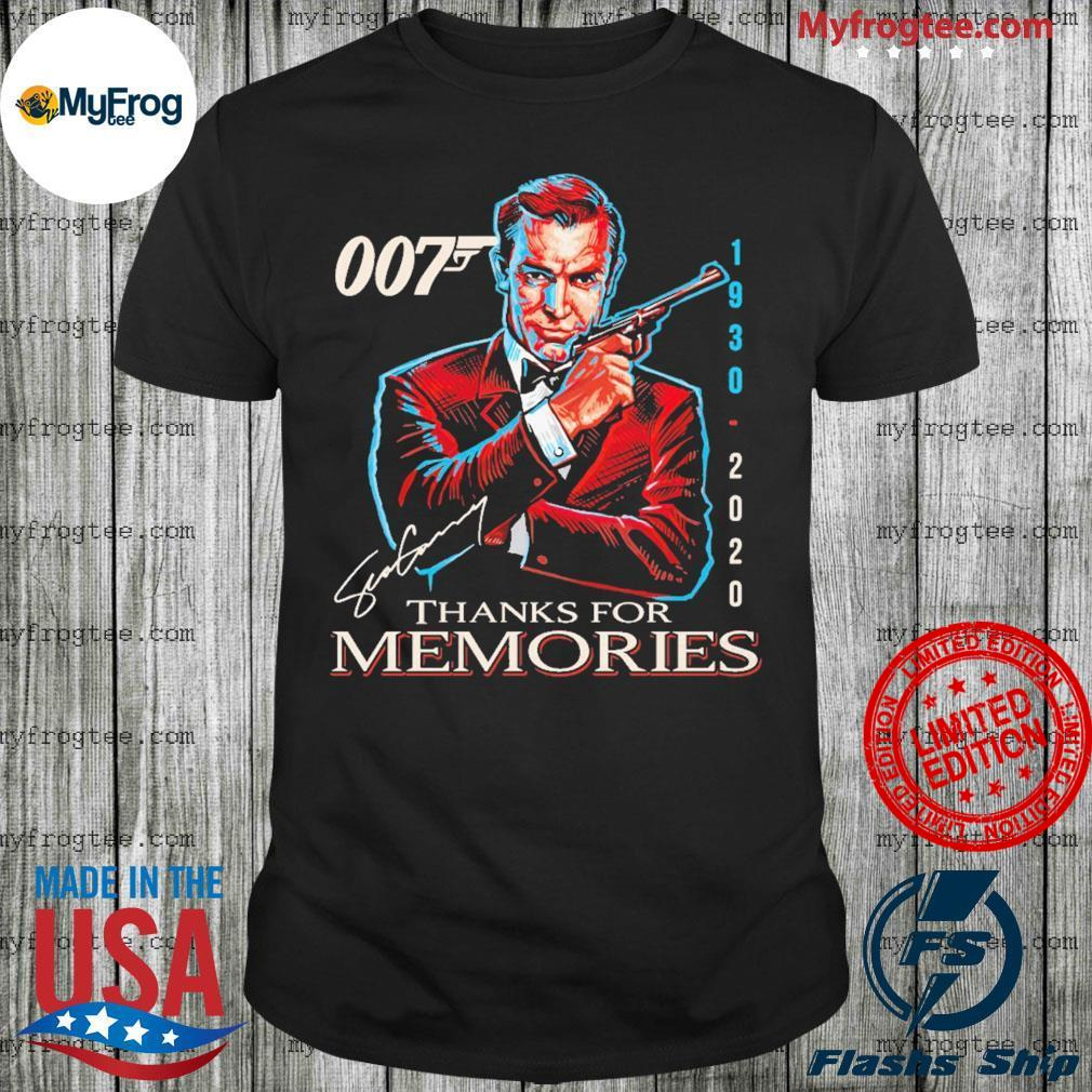 Rip Sean Connery 007 1930 2020 thank you for memories shirt
