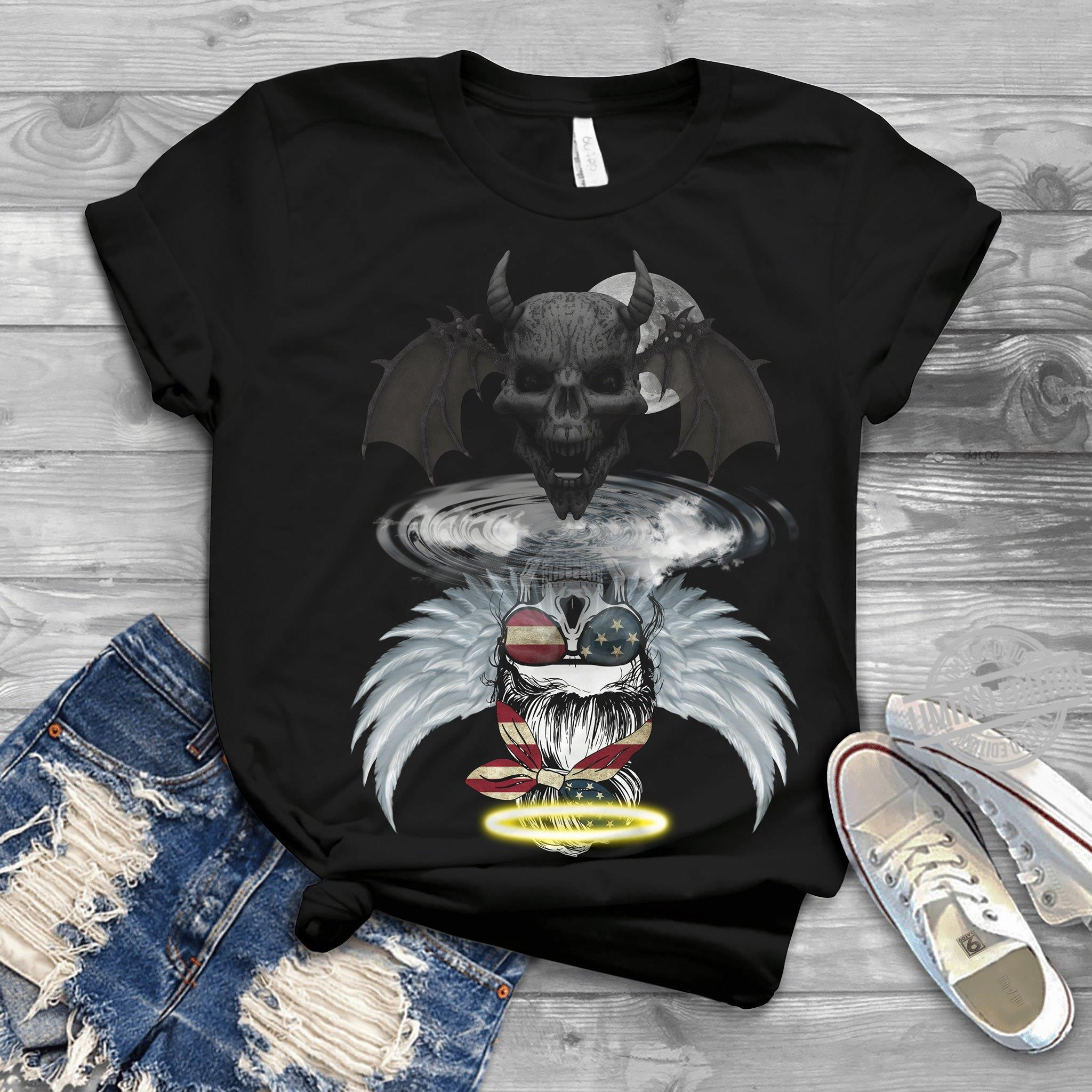Skullbat Reflective In The Water Become Angel Shirt