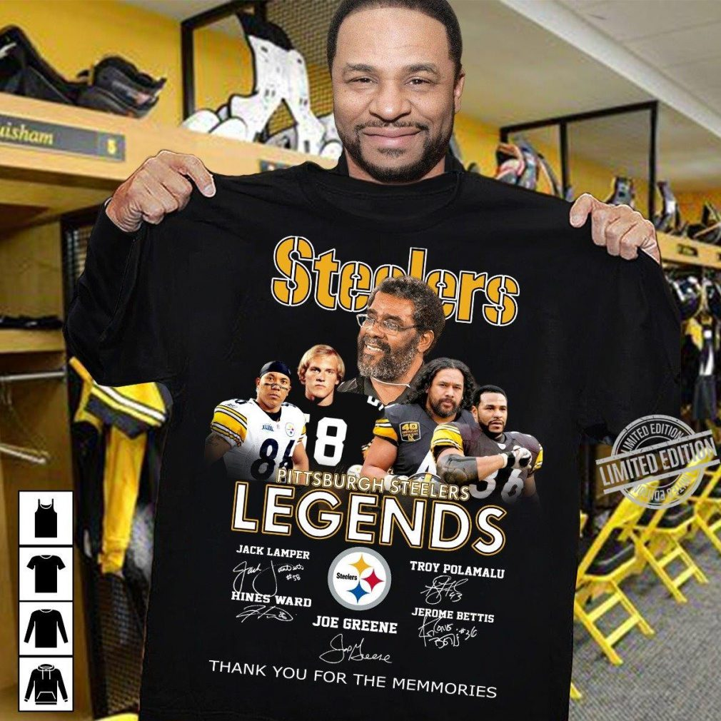 Steelers Legends Thank You For The Memories Shirt