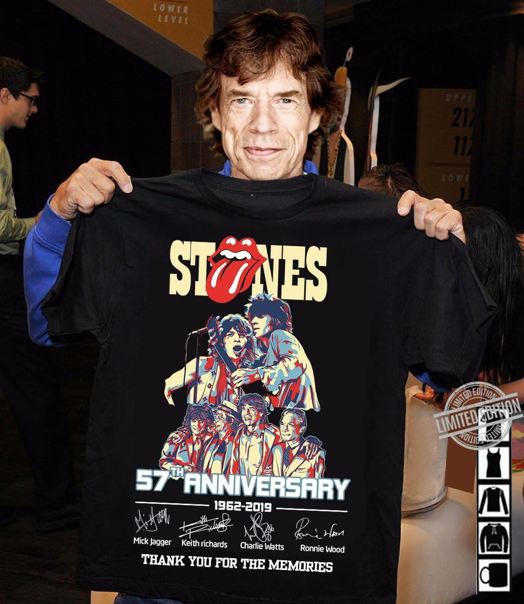 Stones 57th Anniversary Signatures Thank You For The Memories Shirt