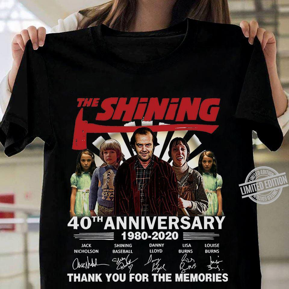 The Shining 40th Anniversary Thank You For The Memories 1980 2020 Shirt